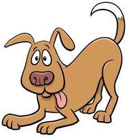 speelse hond of puppy dierlijk stripfiguur vector