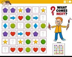 vul het patroon educatieve spel voor kinderen