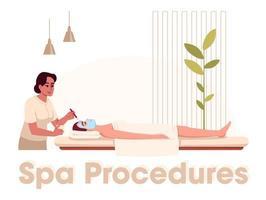 schoonheidsbehandeling procedure vector