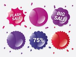 Prijs Flash-badges vector