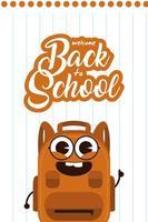 kawaii school levert karakters voor terug naar school