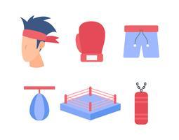 Gratis uitstekende Muay Thai-vectoren vector