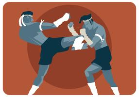 muay thai match vector