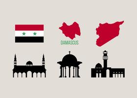 Gratis unieke Damascus vectoren