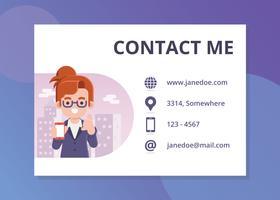 Neem contact op met mij pagina illustratie