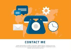 Neem contact met me op Achtergrond Gratis Vector