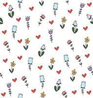 kleur bloemen naadloos patroon vector
