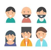 aantal mensen avatars vector