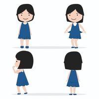 klein meisje karakter ontwerpset vector