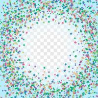 Abstract kleurrijk sterrenstofframe vector
