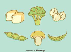 Veganistisch eiwit Groente Vector