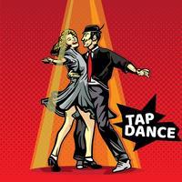 Tap Dance Pop Art Vector