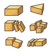 Tofu Vector iconen