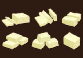 Set van Tofu Vector