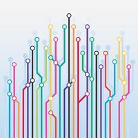 Abstracte kleuren Metro Scheme achtergrond vector