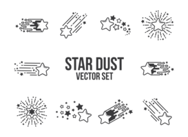 ster stof pictogrammen vector