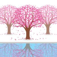 Japanse pruimenbloesem boom illustratie vector