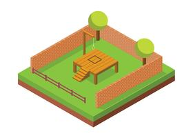 Gallows Isometric Gratis Vector