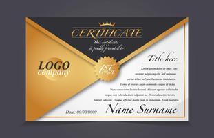 Diploma sjabloon Vector