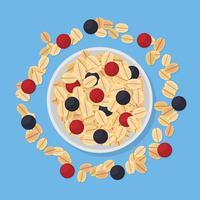 Gezond ontbijt illustratie