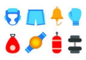 Set van Muay Thai pictogram