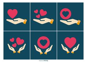 Genezing Hand Icon Collection vector