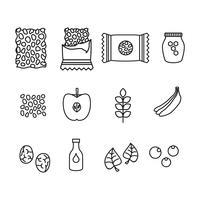 granola ingridients vector pictogram
