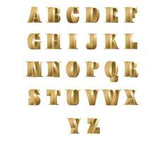 3D-lettertype Bronzen gratis vector