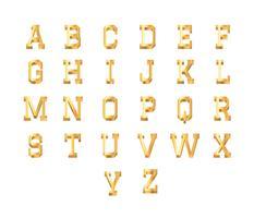 3D-lettertype Gouden gratis vector