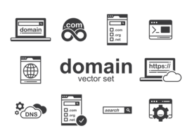 Domein iconen Vector