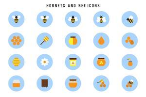 Gratis horzels en bijenvectoren vector
