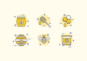 Lijn kunst Hornet pictogram vector