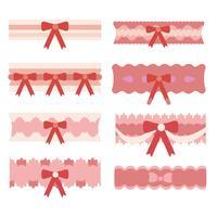 Gratis roze kousenband Vector