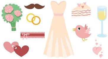 Gratis roze bruiloft vectoren