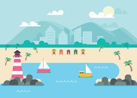 Paradise Cove Illustratie vector
