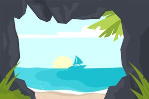 Cove illustratie vector