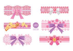 Pink Garter Vector-collectie vector