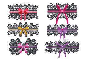 Black Lace Garter Vector-collectie vector