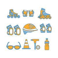 Gratis Rollerblade apparatuur pictogram Vector