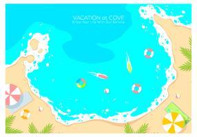 Vakantie bij Cove achtergrond gratis Vector