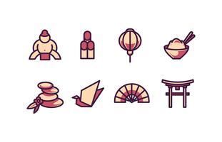 Japan lijnkleur icon pack