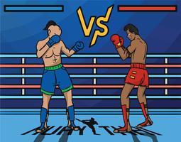 Muay Thai vectorillustratie