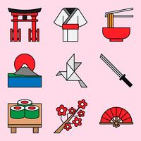 Japanse thema-iconen