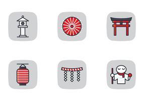Japans pictogram en heiligdom