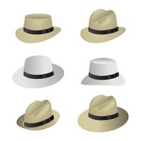 retro panama hoed vector