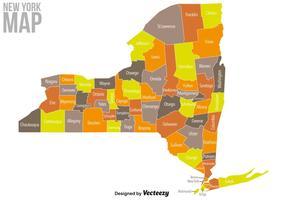 Vectorkaart van New York vector