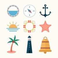 Gratis zee plat pictogrammen vector