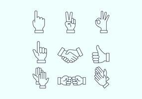 Hand vectoren