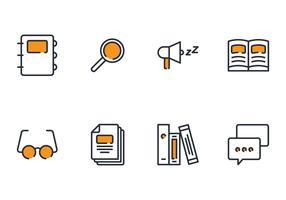 Bibliotheek lineaire pictogram