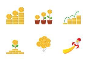 Inkomsten geld illustratie vector